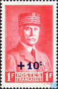 Postage Stamps - France [FRA] - Marshal Petain, with surcharge