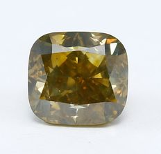 1.41 ct IGI Certified Natural Fancy Greenish Yellow- SI1 Diamond