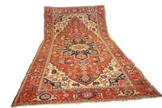 Extra large size Antique Persian Heriz Carpet  607 X 336 cm