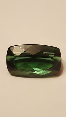 Chrome-green brilliant cut tourmaline – 21.36 ct.