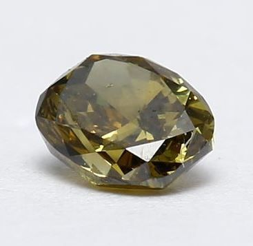 Diamante fancy naturale verde giallastro intenso da 0,18 ct con certificato IGI