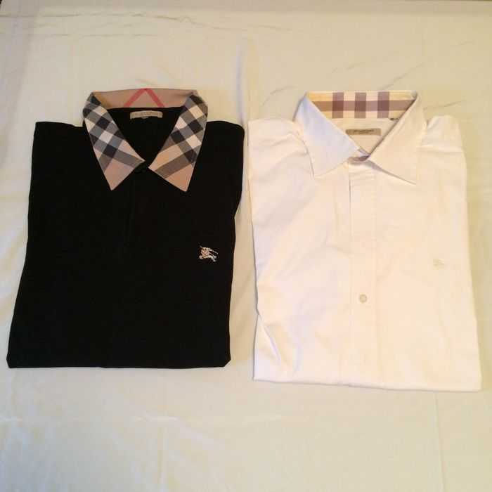 Lot  Burberry  Shirt + Polo - Catawiki b923f631d42