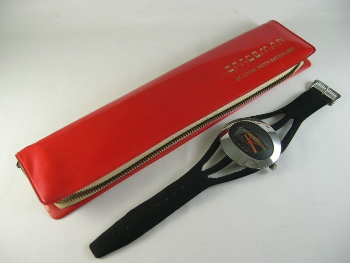"OVAL SPACEMAN Watch- ""Harlem"" Branded- Retro Genuine – men's wrist watch – 1970s"