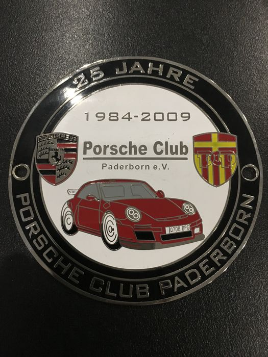 Porsche Classic Grill Badge 25 Years Porsche Club Paderborn Germany - 2009