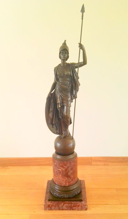 Incredibly large bronze sculpture of Athena - Late 20th century