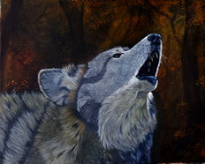 Gary Wakeham - Autumn Howl (Timber Wolf)