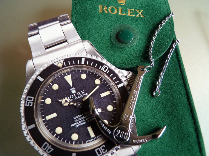 Rolex case and Rolex Tudor Anker 200m 600 feet in original packaging