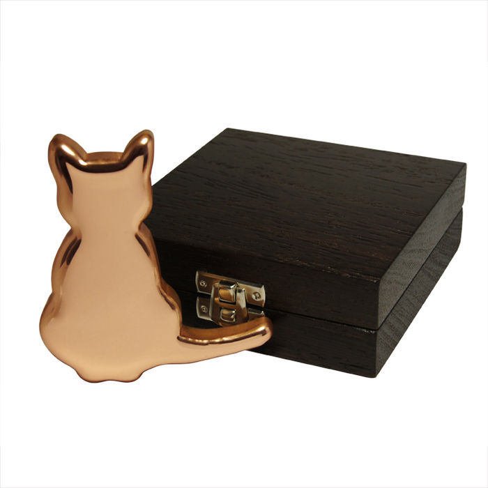 Copper ingot-shaped cat 500 grams of 999 fine copper with box case - Castle