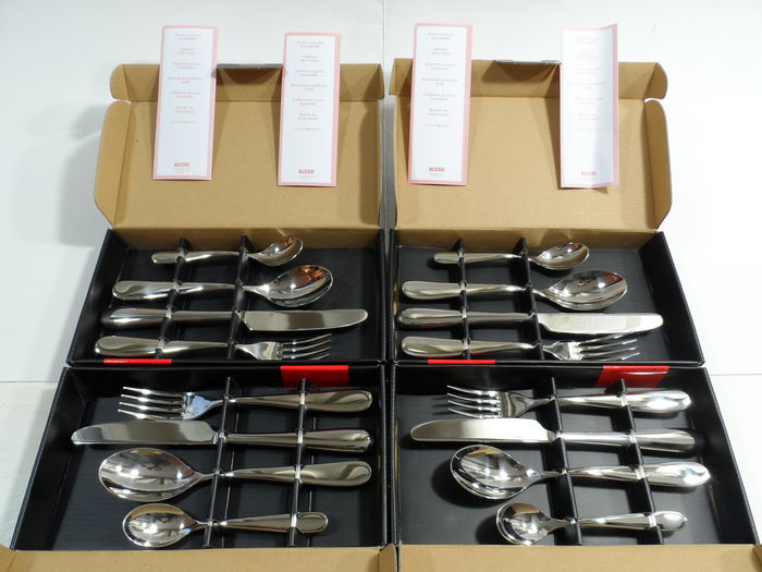"Ettore Sottsass voor Alessi – 4 x ""Nuovo Milano"" cutlery, 16 pieces"