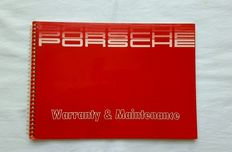 WARRANTY CARD PORSCHE 911 TURBO/CARRERA SERVICE BOOK