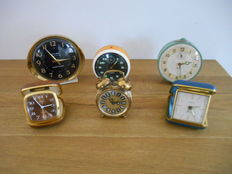 Lot of 6 alarm clocks from the sixties - West Germany / Scotland