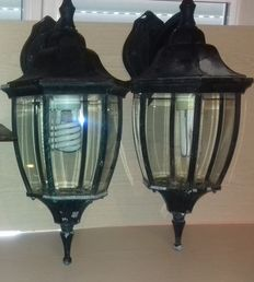 Lot of two lamps outdoor lighting second half of the 20th century France