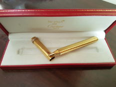 Must de Cartier Vendome Pen gold plated with original box