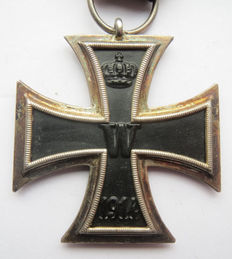 German original medal: Iron Cross 2nd class with ribbon WW1