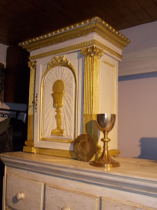 French wooden tabernacle - presumably 18th century
