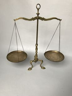 Bronze balance, approximately 1935, probably the Netherlands.