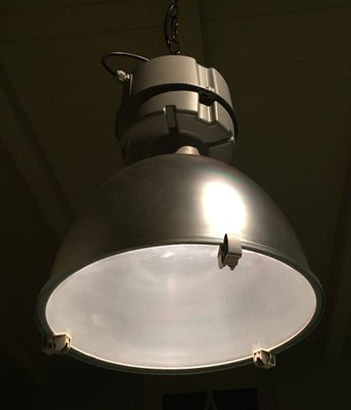 Three industrial lamps