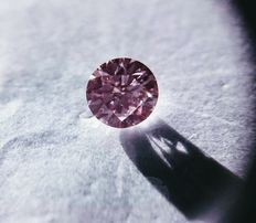 Fancy purrplish pink diamond 0,30 ct