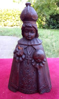 Oak wood statue depicting the Holy Infant of Prague-Czech Republic - first half of the 19th century
