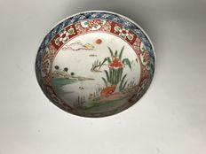 Japanese, porcelain bowl with landscape scenery - Japan - late 19th century.