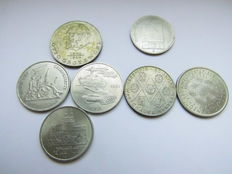 East Germany - 7 Various Coins, 100 Mark 1948