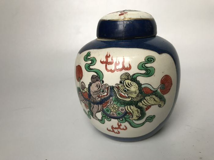 Porecelain Bowl Vase With A Feng Shui Fu Dog Decoration China 19th Century Catawiki