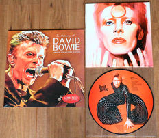 David Bowie- lot of 2 limited edition lp's: In Memory Of David Bowie (only 1500 copies worldwide!) & All The Young Dudes picture disc lp (Special limited edition for David Bowie fan club Australia, feat. rare tracks incl. duets with Lulu & Queen!)