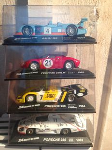 Ixo-Altaya -  Scale 1/43 - Lot with 5 models: 2 x Porsche, 1 x Audi, 1 x Ferrari and 1 x Chrysler Viper