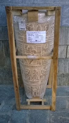 Decorative; Enormous Lemani vase with Kamasutra design - 21st century