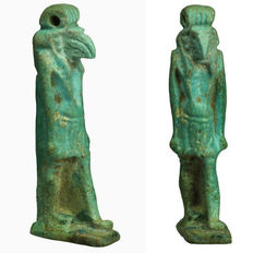 Egyptian faience amulet of the god Toth - 5.8 cm