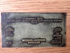 Michael Jackson - Thriller - CBS / Epic release documents and print plates for the Thriller cassette tape
