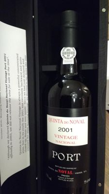 2001 Quinta do Noval Nacional Vintage Port - 1 bottle in luxury wooden box