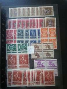 Belgium - collection of all periods in stock book and on sheets and in bags.