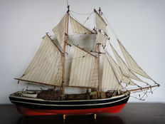 Two master for short sea trips in the Baltic Sea-wooden model sailboat