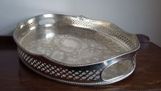 Copper Brothers Limited, Large, silver-plated, pierced Gallery Tray, Made in Sheffield, England