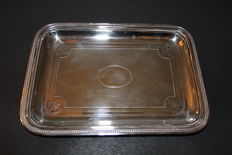 Card tray by Christofle. Numbered, late 19th century.