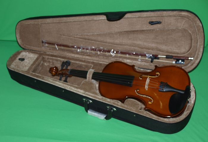 Practice violin 1/4, including case, bow and rosin