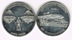 Switzerland - 2 Silver Medals commemorating to the 200 Years of the Swiss Flight Industry (1784-1984)