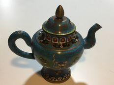 Oude cloisonné theepot – China – ca. 1920