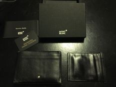 Montblanc Wallet with 4 compartments in black European full-grain cowhide with exclusive Montblanc Ref.