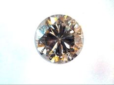 Diamond 0.20 ct - Brilliant cut - Fancy Yellowish Pink - Natural colour