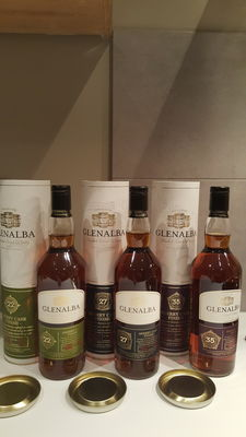 3 bottles - Glenalba set  - 22, 27 & 35 years old