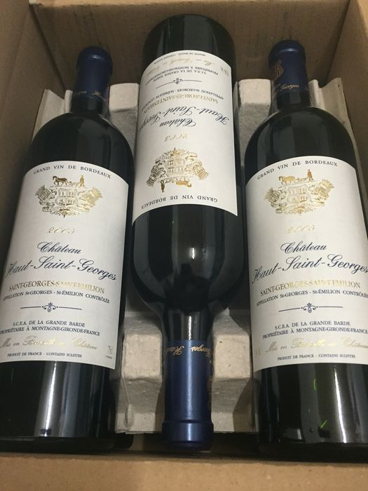 2005 Château Haut Saint-Georges, Saint-Georges-Saint-Emilion – 6 bottles in total, in original box