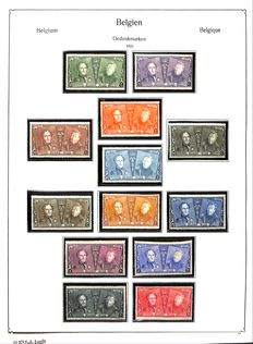 Belgium from 1849 to 1959 - advanced collection in KABE album on album sheets