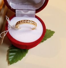 18 kt Gold ring, 12 diamonds 0.48 ct.