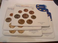 Germany, year set 2005 A, D, F, G, J (five items), complete