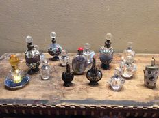 Lot of 15 different perfume bottles