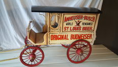 Handmade wooden carriage, Budweiser from the country and western time