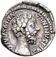 Roman Empire – Silver Denarius of Divus Marcus Aurelius 161-180 AD, minted in Rome, after his death / Former collection of Lückger (1864-1951)