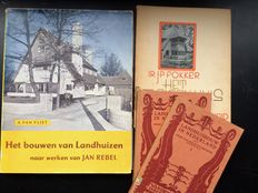 Dutch country houses; Lot with 4 publications - 1921 / 1950